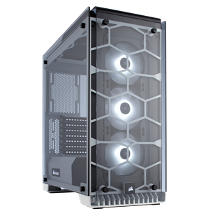 CORSAIR CRYSTAL SERIES 570X RGB FULLY TEMPERED GLASS GAMING ATX MID-TOWER CASE -