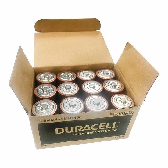 Duracell Coppertop Alkaline C Battery Bulk Pack of 12