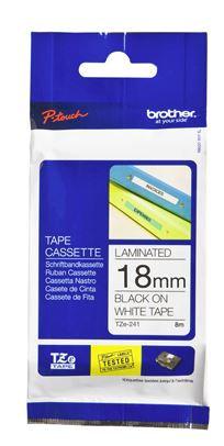 Brother TZe-241 18mm x 8m Black on White Tape