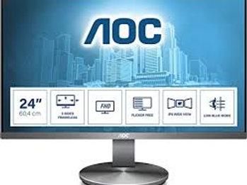 "AOC i2490VXQ 24"" 1920x1080 VGA HDMI DP Frameless 4yr wty Ex Demo"