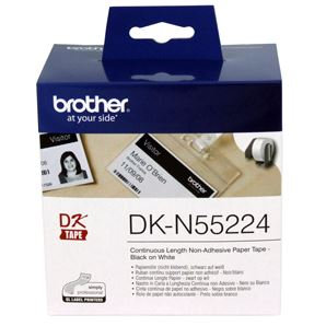 Brother DKN55224 Non-Adhesive Continuous Paper Roll 54mm x 30.48m