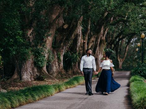 Candyce and Shelvon - Leu Gardens Orlando Engagement Photography