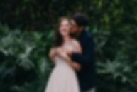 Bride an Groom Kissing