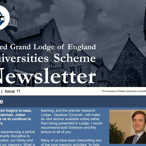 UGLE University Scheme Newsletter Issue 11