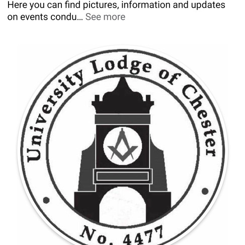 University Lodge of Chester Facebook page is LIVE!