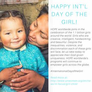 HOPE worldwide: International Day of the Girl (2016).
