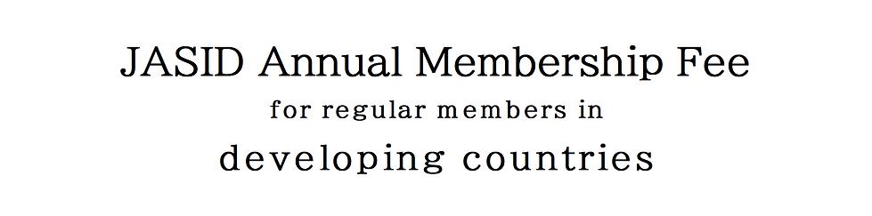 Regular members in developing countries