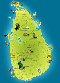 TOUR MAP SRI LANKA