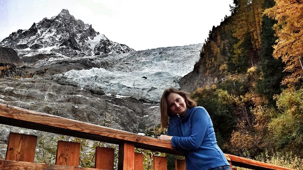 В Горы. Ледник Боссон. Сидельникова Юля