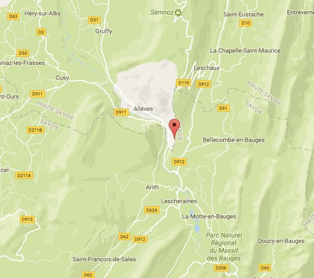 Карта региона Верхней Савои и Савои, Франция