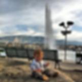 Женевский фонтан Bain de Pâquis