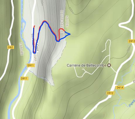Карта пещеры Bange Верхняя Савоя Франция