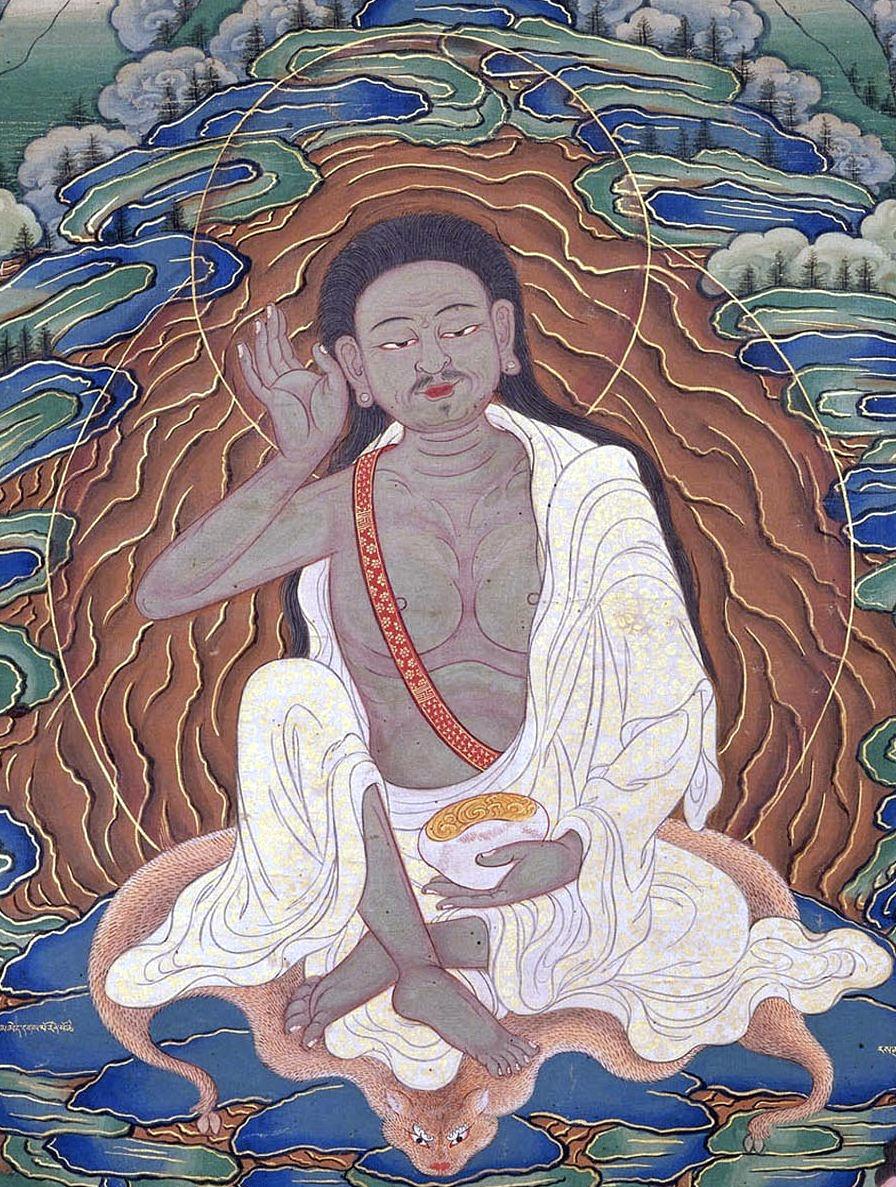 Der berühmte tibetische Yogi und Dichter Milarepa