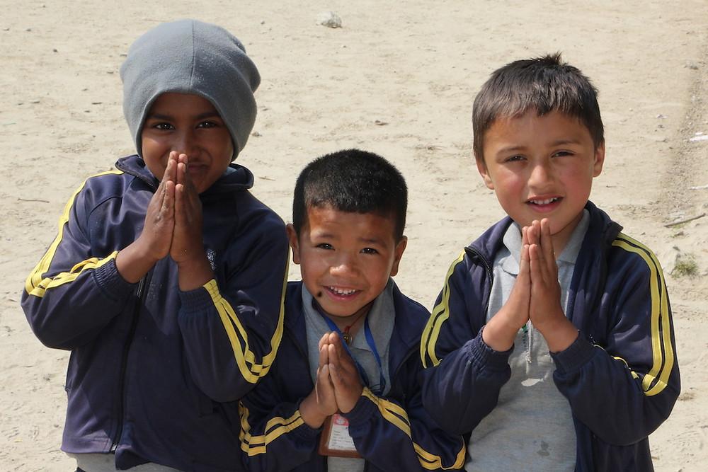 Namaste - Der übliche und respektvolle Gruß der Nepali