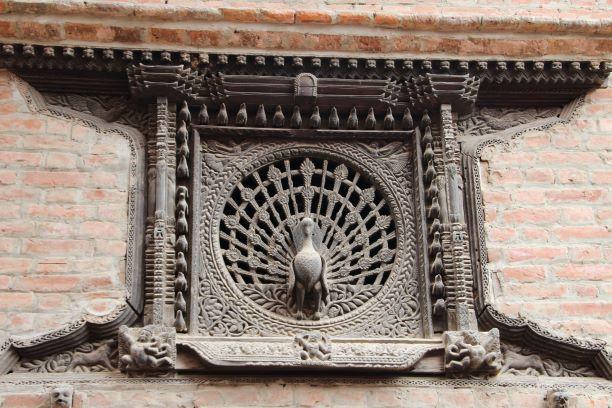 Das berühmte Pfauenfenster der Pujari Math