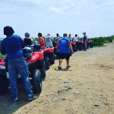 One of the coolest things I've ever done! We spent 6 hours touring the island on 4-wheelers. We saw the both the French and Dutch sides, went off roading to the highest point of the island, swam in the clearest waters, and had some great food along the way! 🛳🏝☉😍 — with Splash-atv Tours-sxm, Erica Bradburn, Debbie Reagan Lakins, Jennifer Crain, Ranlan Xaiver Crain, Hubie Bradburn, Kasey Cogburn, Holly Bradburn and Brandi Lakins in St Maarten, Carribean.