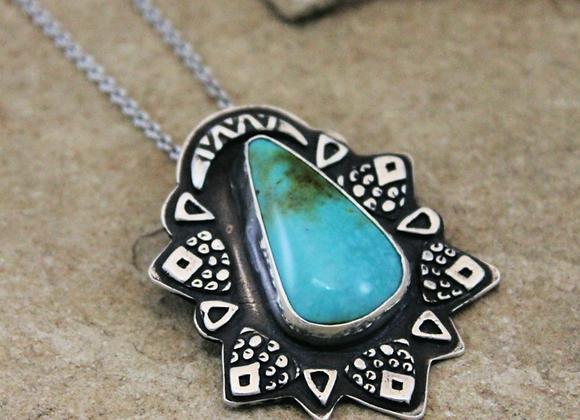 Azteca Priestess Turquoise FS999 Pendant