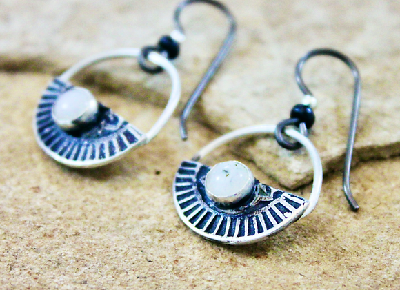 Santorini Moon Earrings