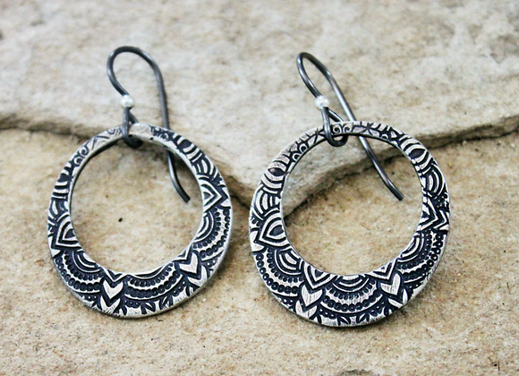 Sarong Loop Earrings