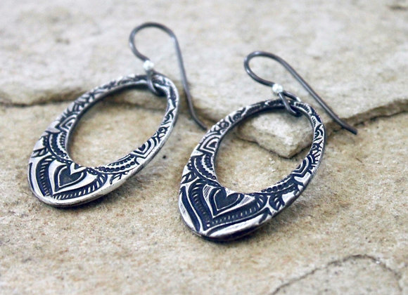 Sarong Oval Loop Earrings