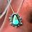 Thumbnail: Azteca Priestess Turquoise FS999 Pendant