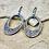 Thumbnail: Sarong Oval Loop Earrings