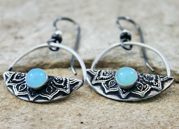 Anguilla Blue Earrings