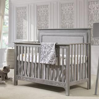 Emerson Crib in Owl w/ Fog Linen Panel