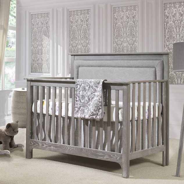 Emerson Crib in Owl w/ Fog Linen Panel