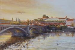 Golden Hue over Golden City, Prague