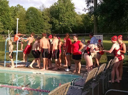 Swim team pre-meet