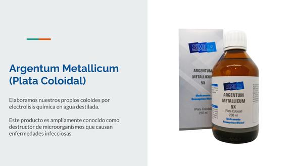 Argentum Metallicum (Plata Coloidal)