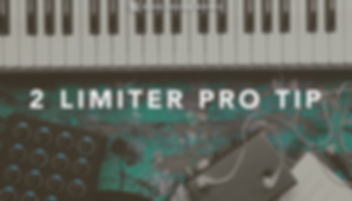how to get a loud mix using 2 limiters