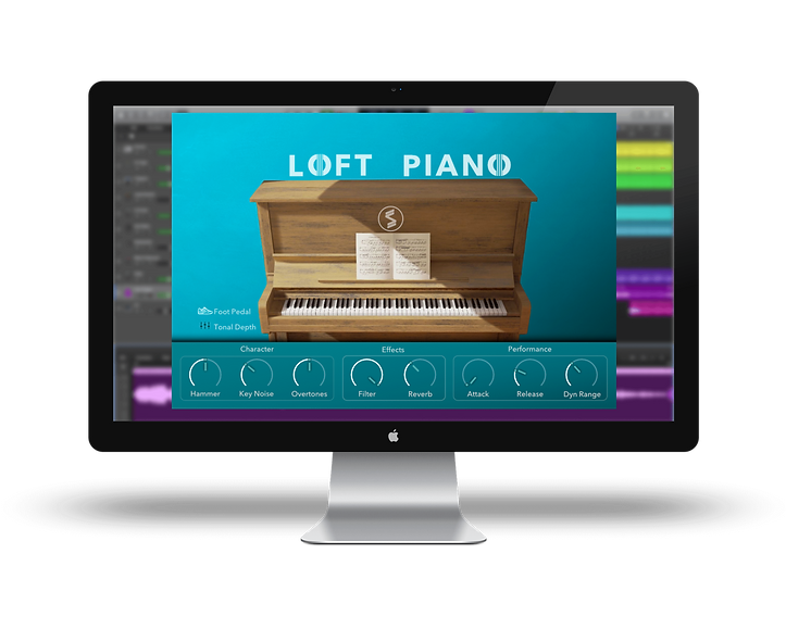 GUI for Echo Sound Works Loft Piano Upright Piano for Kontakt 6.