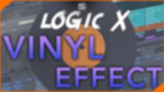 Logic X Vinyl Effect no plugins