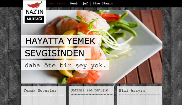 Catering & Şef website templates – Şef Catering