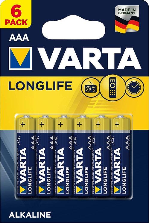 LOT 6 PILES VARTA LR03 AAA