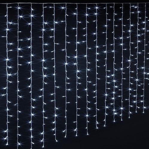 -RIDEAU LED BLANC FROID 3MX2M ETANCHE EXT  (RIDEAULEDEXT)