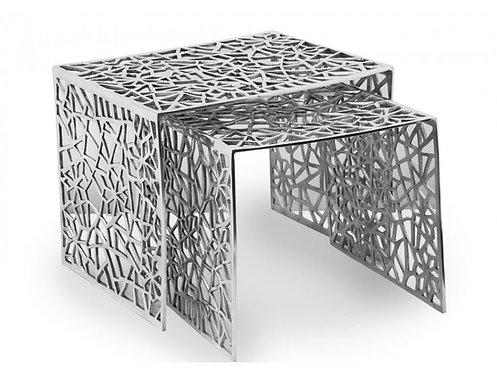 - TABLES BASSES EMBOITABLES DESIGN METAL LOT DE 2 (TB2)
