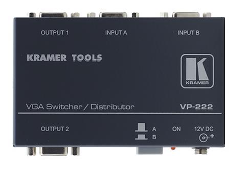 -SELECTEUR VGA 2 ENTREES 2 SORTIES VGA (VP222)