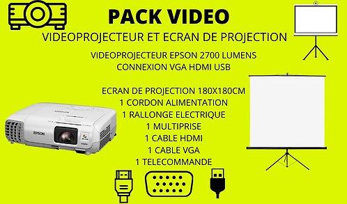 -PACK VIDEOPROJECTEUR + ECRAN 180