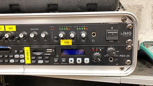 -PACK REGIE  SON 7 CONSOLE MIXAGE + LECTEUR CD USB SD RECORDEUR AUDIO (PR7)