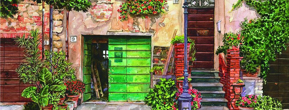 B13. Street Scene with Lamp, Fiorentino.