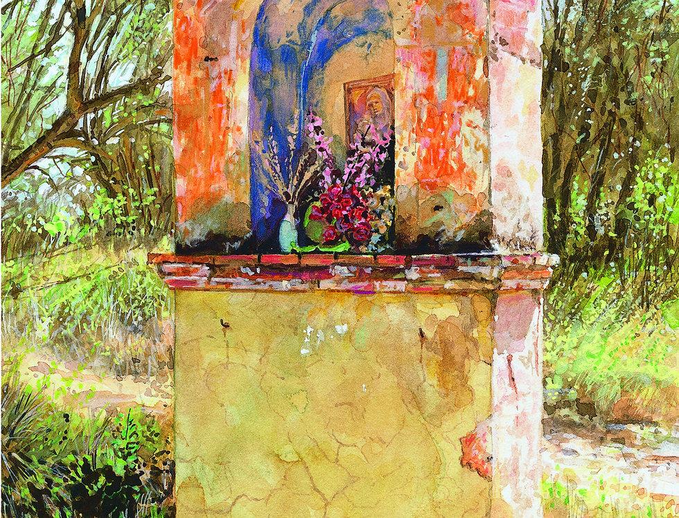 B22. Tuscan Shrine near Sienna.