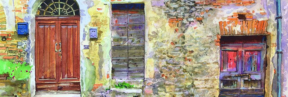 B12. Three Doors and Cat, Cortona.