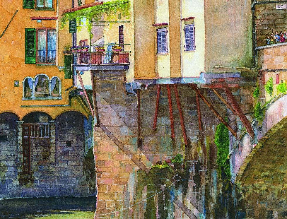 B5. Ponte Vecchio study, Firenze.