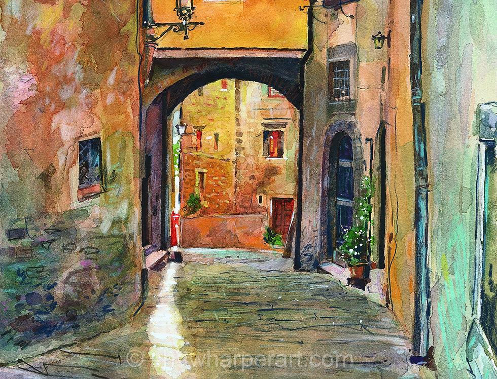 B1. Arched Alleyway, Castiglion Fiorentino.
