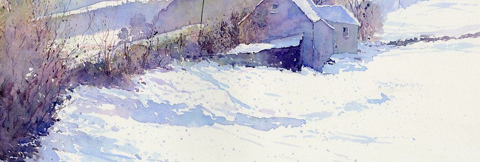 C48. The Mournes in Snow.