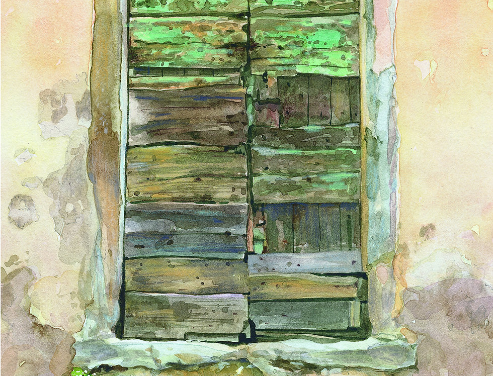 B8. Door Study 7. Castiglion Fiorentino.
