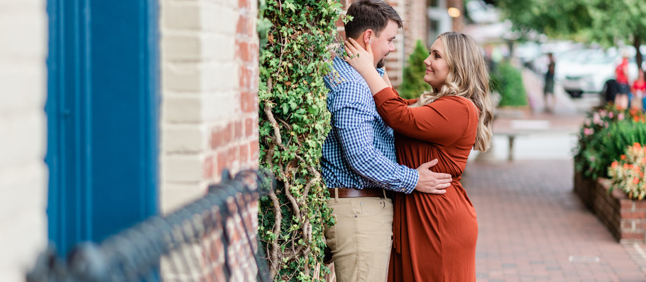 Alisha and Taylor | Downtown Senoia Engagement